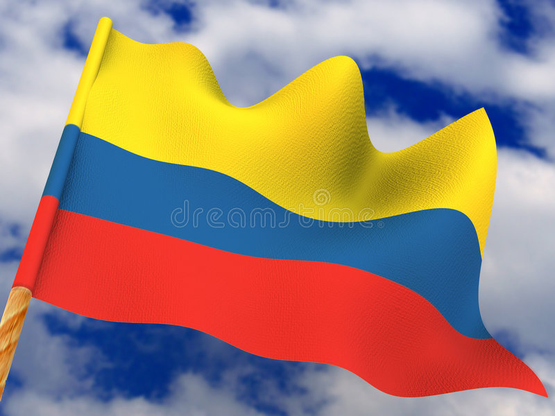 colombia flagga arkivfoton