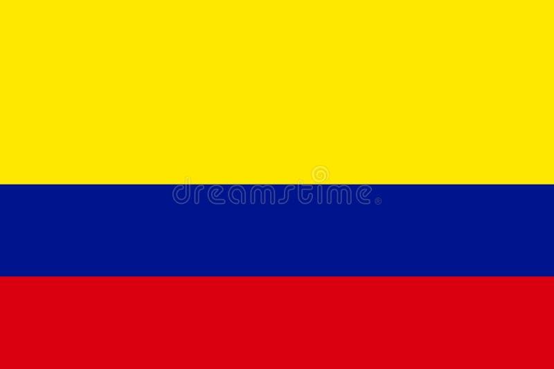 colombia flagga royaltyfri illustrationer