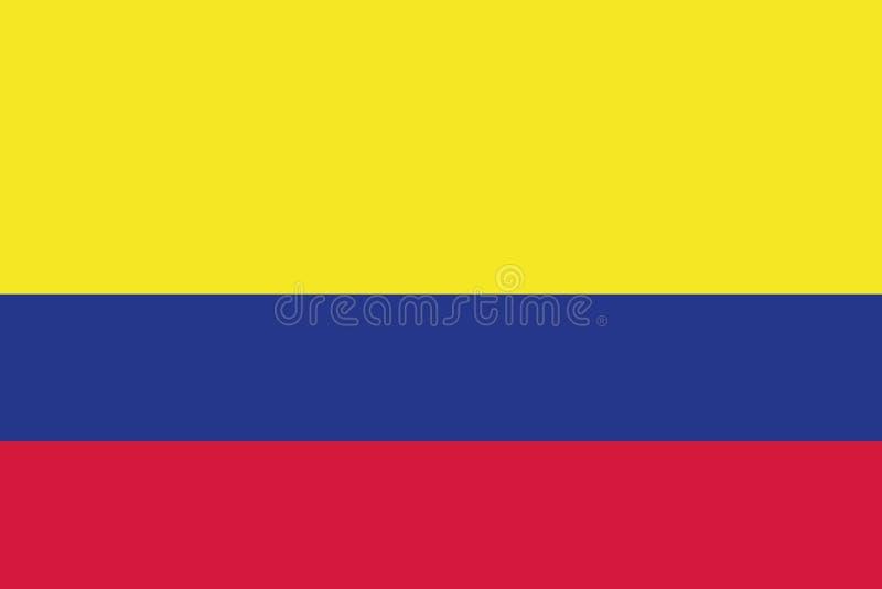Colombia flaggavektor stock illustrationer