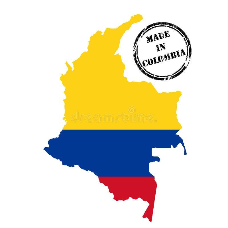colombia gjorde stock illustrationer