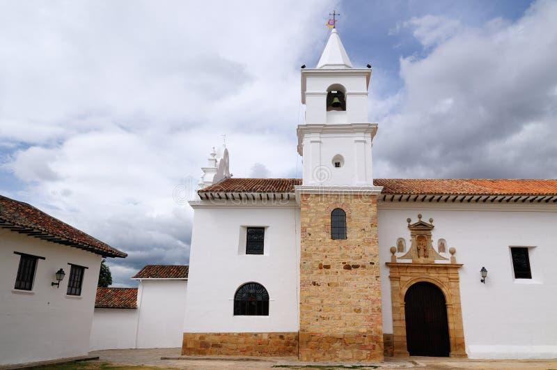 Colombia kolonial arkitektur av Villa de Leyva fotografering för bildbyråer