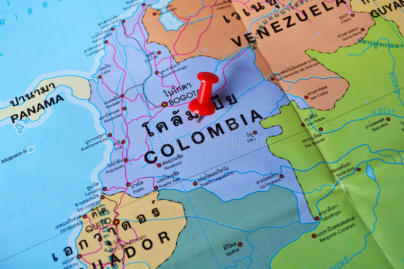 Colombia map stock photo Image of vacation trip tropical 63089162