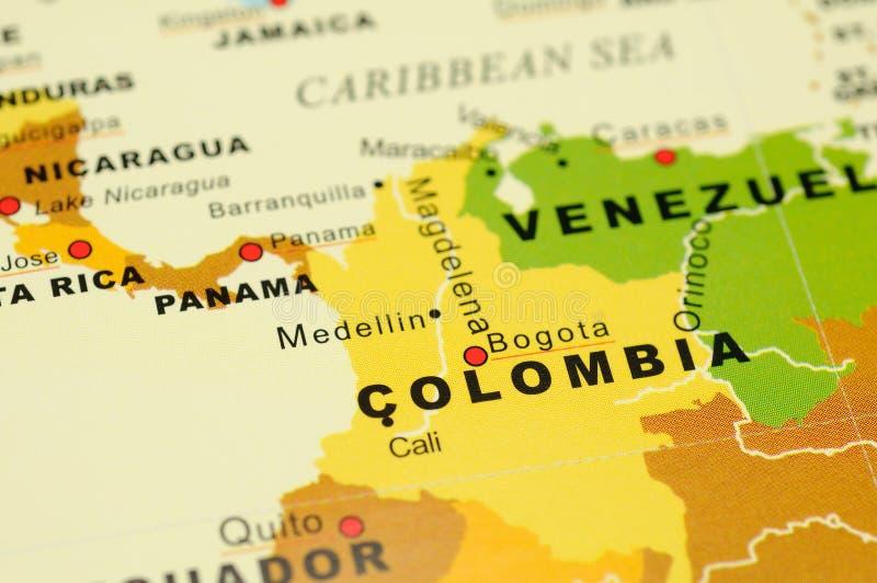 colombia mapa obrazy royalty free