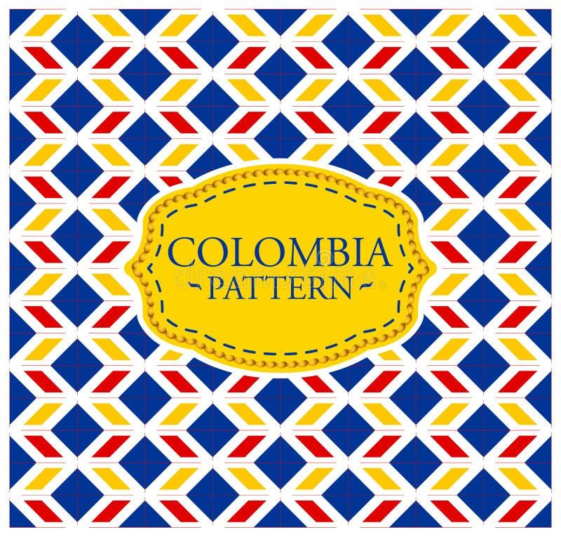 Colombia modell - sömlös bakgrundstextur vektor illustrationer