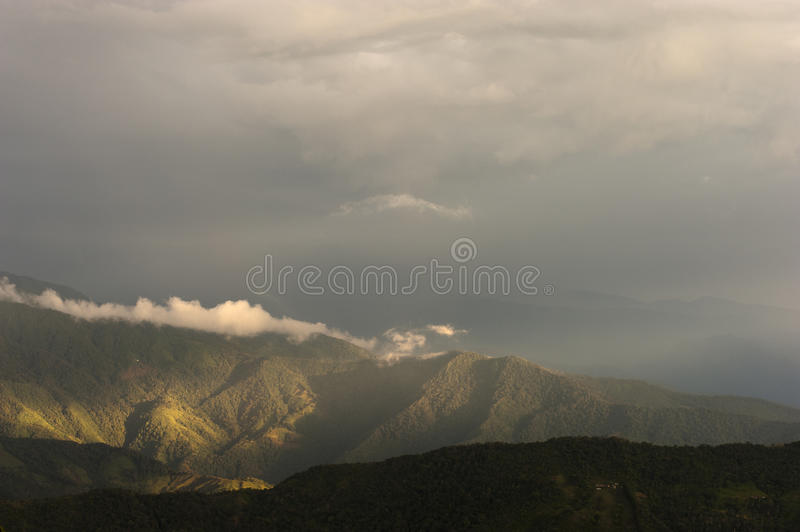 Colombia - Mountains in the Sierra Nevada de Santa Marta. A Area in the North of Colombia stock image