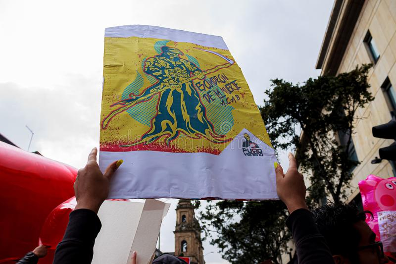 Colombia National Strike stock images