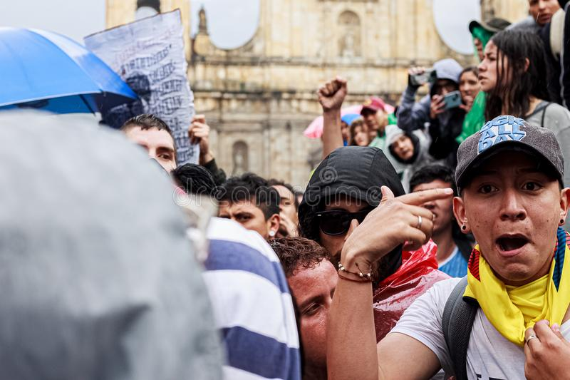 Colombia National Strike stock image