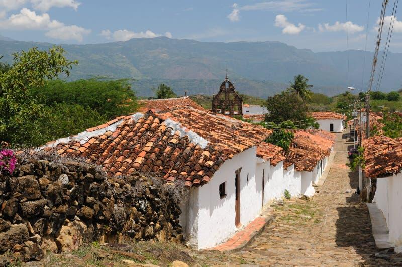 Colombia, pueblo colonial de Guane foto de archivo libre de regalías