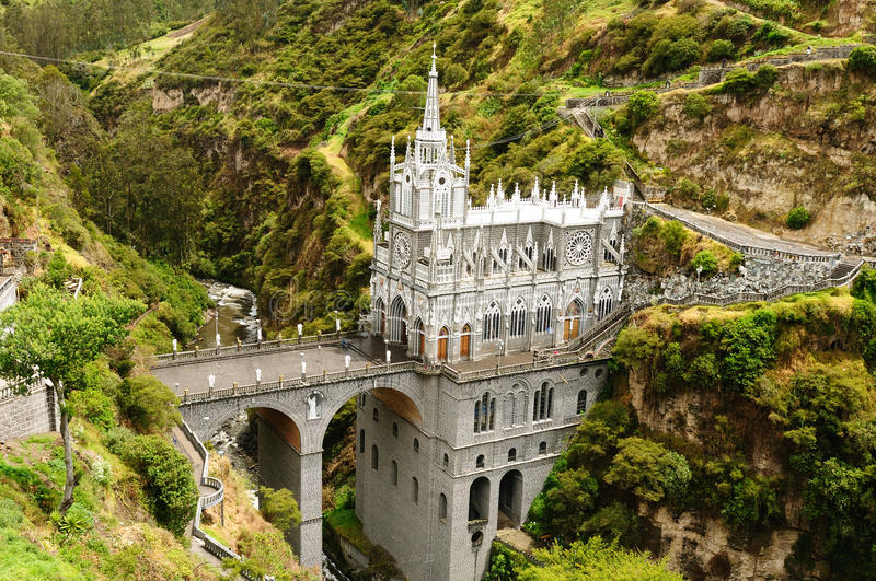 Colombia, Sanctuary of the Virgin of Las Lajas royalty free stock photo