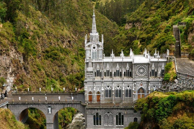 Colombia, santuario de la Virgen de Las Lajas fotos de archivo libres de regalías