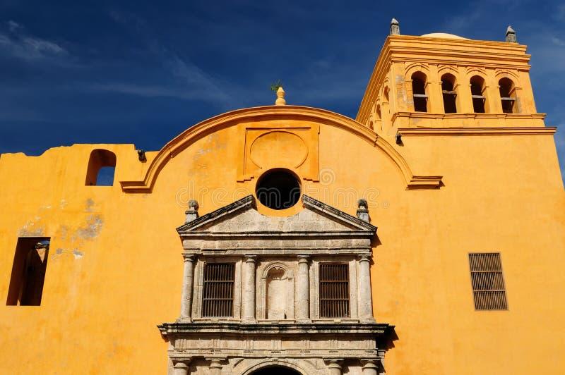 Colombia sikt på den gamla Cartagenaen royaltyfria foton