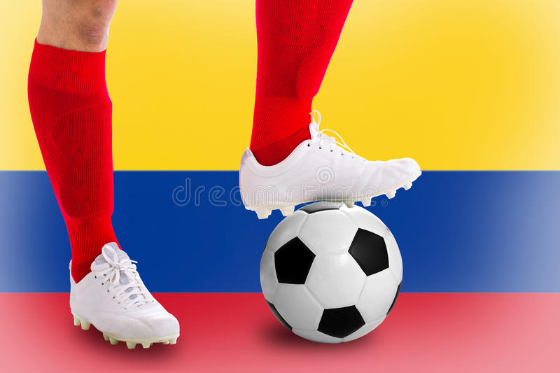 Colombia soccer player stock photo