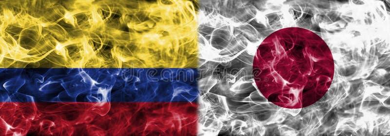 Colombia vs Japan smoke flag, group H, Fifa football world cup 2 stock illustration