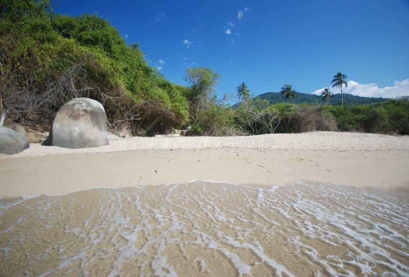 Colombian beach royalty free stock photo