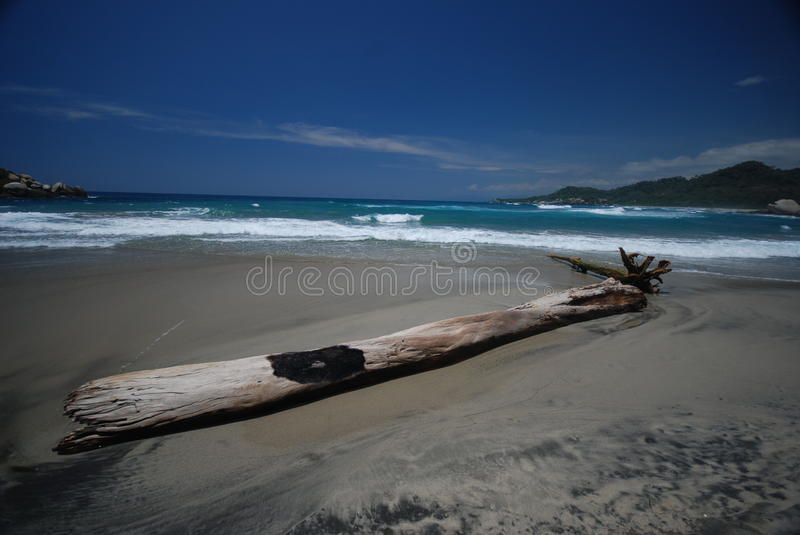 Colombian beach royalty free stock image