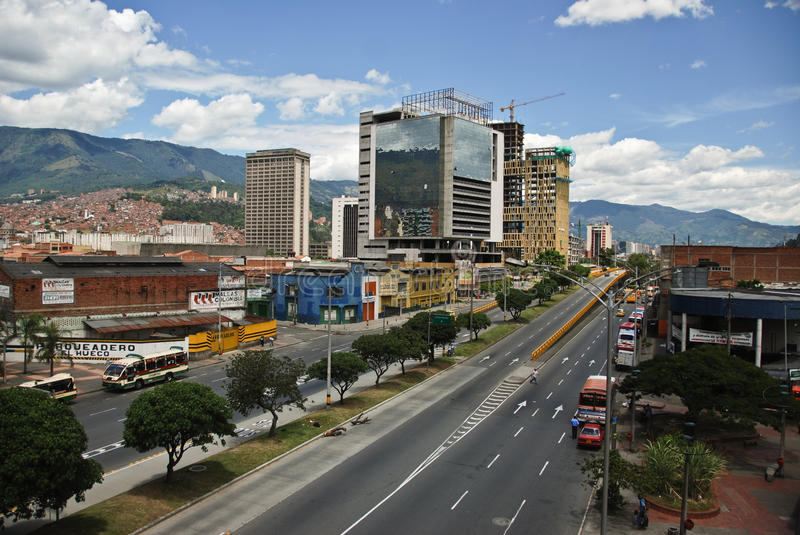 Colombian city of Medellin stock image