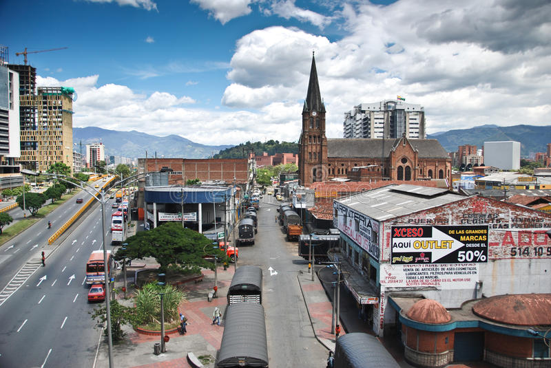 Colombian city of Medellin royalty free stock photo