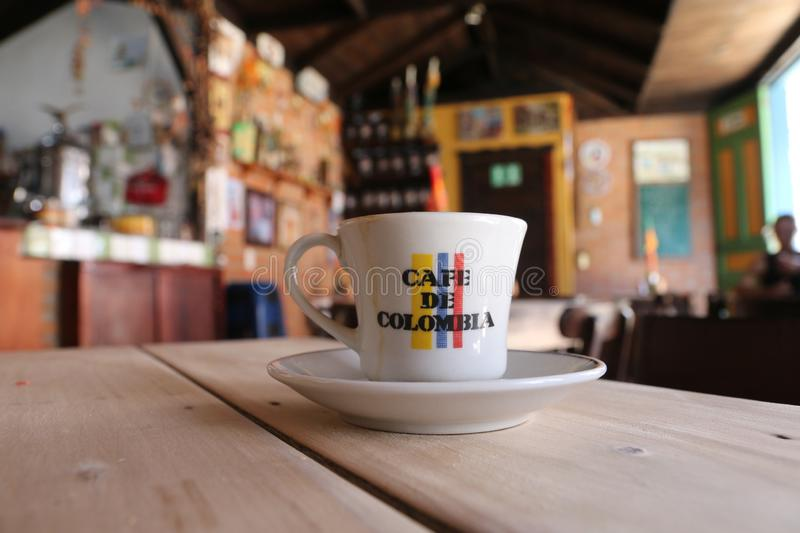 Colombian Coffee Cup Stock Image Image Of Milk Colors 147250345