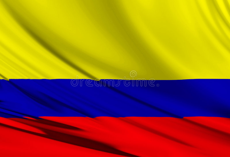 Colombian flag royalty free illustration