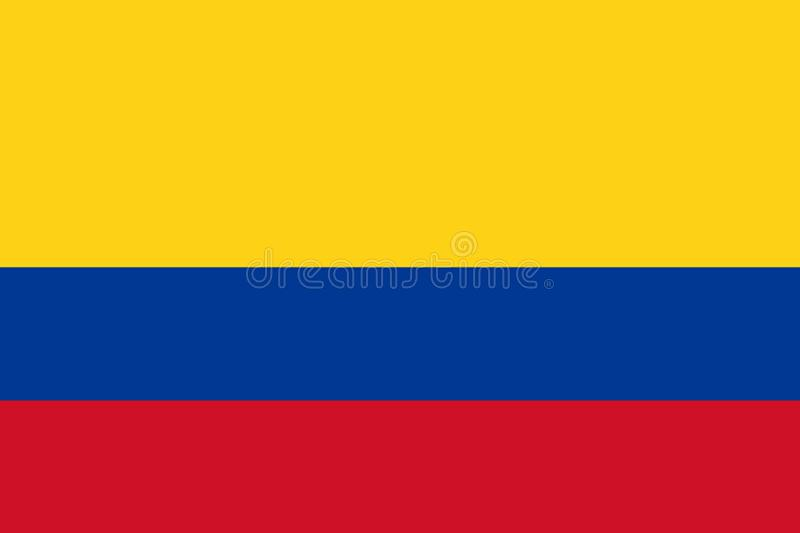 Colombian Flag of Colombia stock illustration