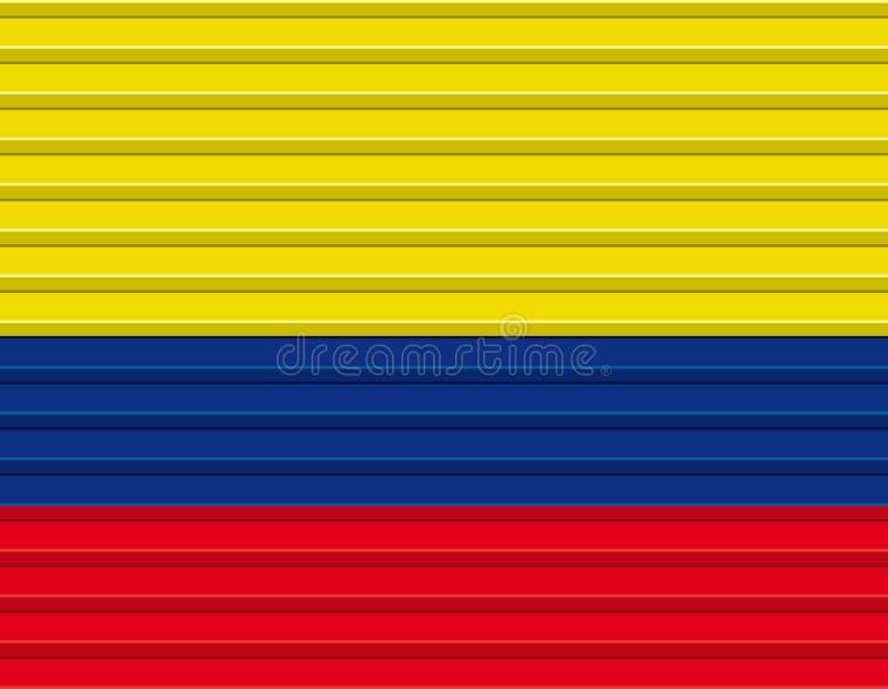 Colombian flag vector illustration