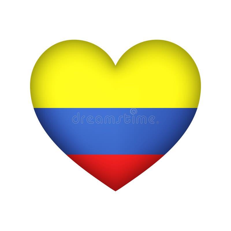 Colombian Flag Vietnam vector illustration design stock illustration