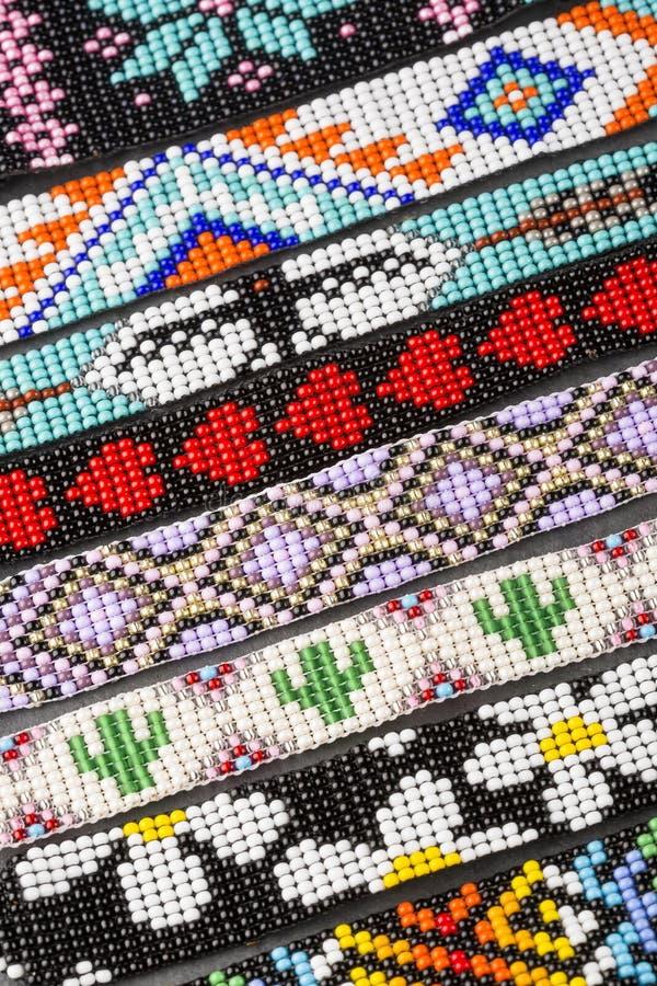 Colombian handmade bracelet - Colorful detail. Artesanía stock images