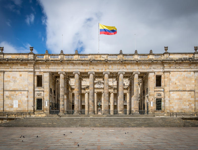 Colombian National Congress and Capitol, Bogota - Colombia royalty free stock photography