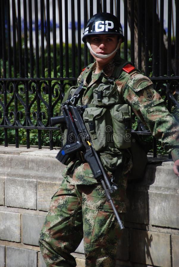 Colombian soldier stock photography