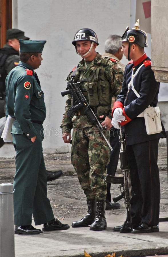 Colombian soldiers royalty free stock images