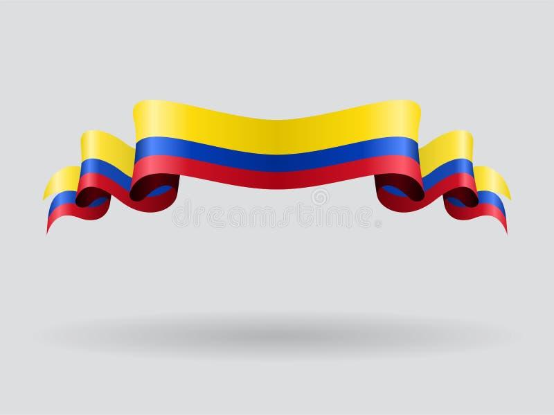 Colombian wavy flag. Vector illustration. vector illustration