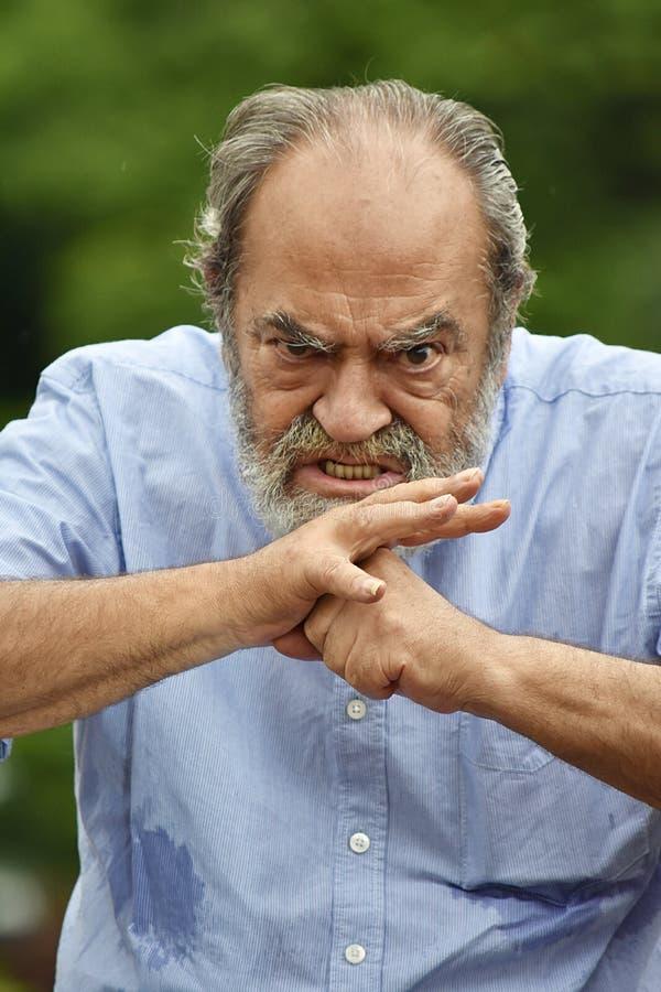 Colombiansk man och ilska arkivbilder