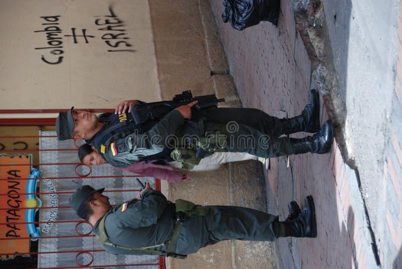 colombiansk soldat royaltyfri bild