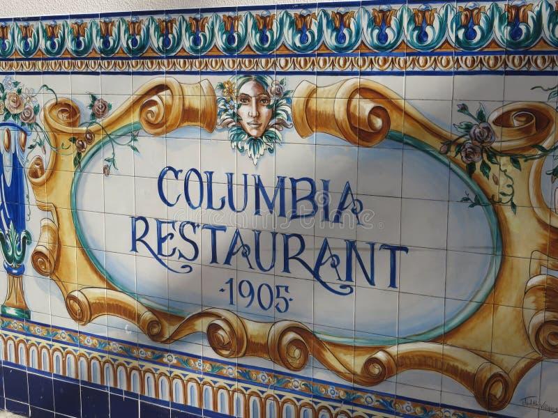 Colombie Resaurant, Tampa, la Floride image libre de droits