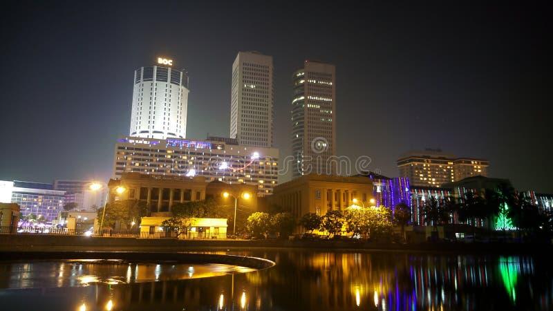 Colombo alla notte immagini stock