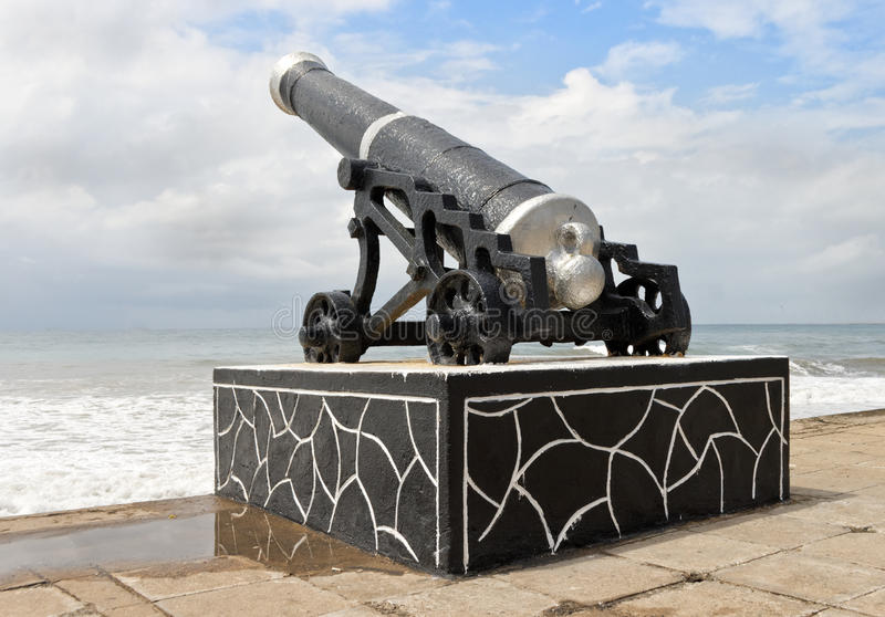 Colombo artillery on the seashore royalty free stock photography