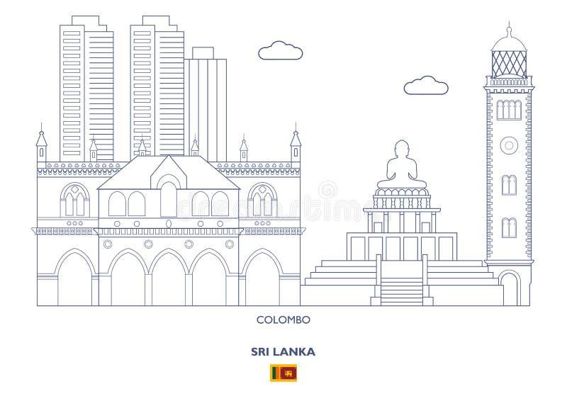 Colombo City Skyline, Sri Lanka lizenzfreie abbildung