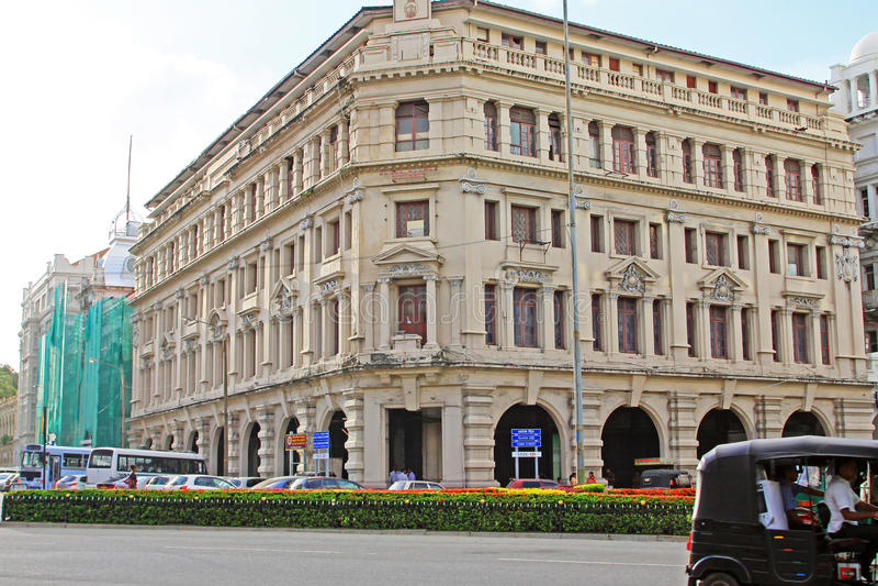 Colombo Colonial Building, Sri Lanka immagine stock
