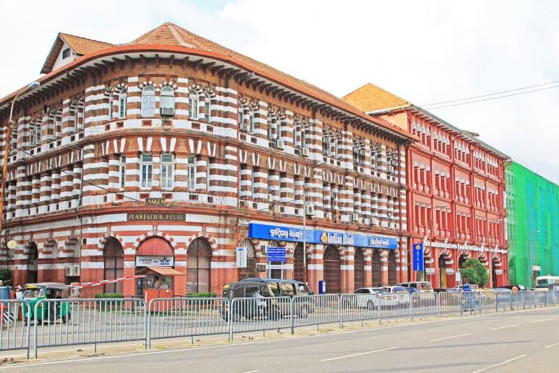 Colombo Colonial Building, Sri Lanka fotografia de stock royalty free