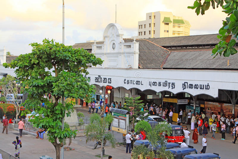 Colombo Fort Railway Station immagini stock