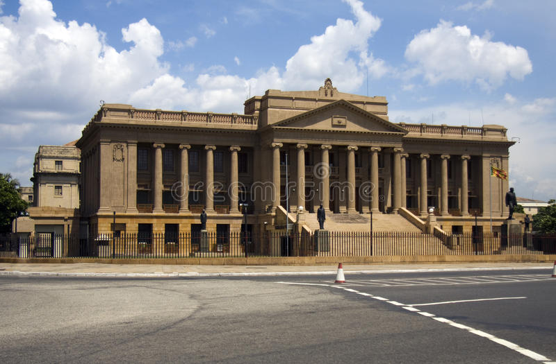 colombo gammal parlament royaltyfri bild