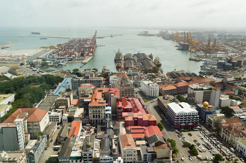 Colombo Harbour immagine stock