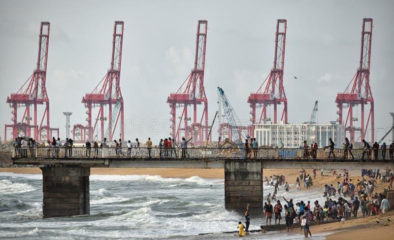 Colombo Harbour International Container Terminals immagine stock libera da diritti