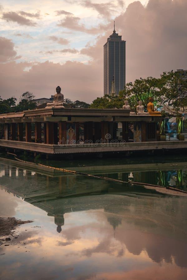 Colombo Sri Lanka al tramonto immagine stock libera da diritti