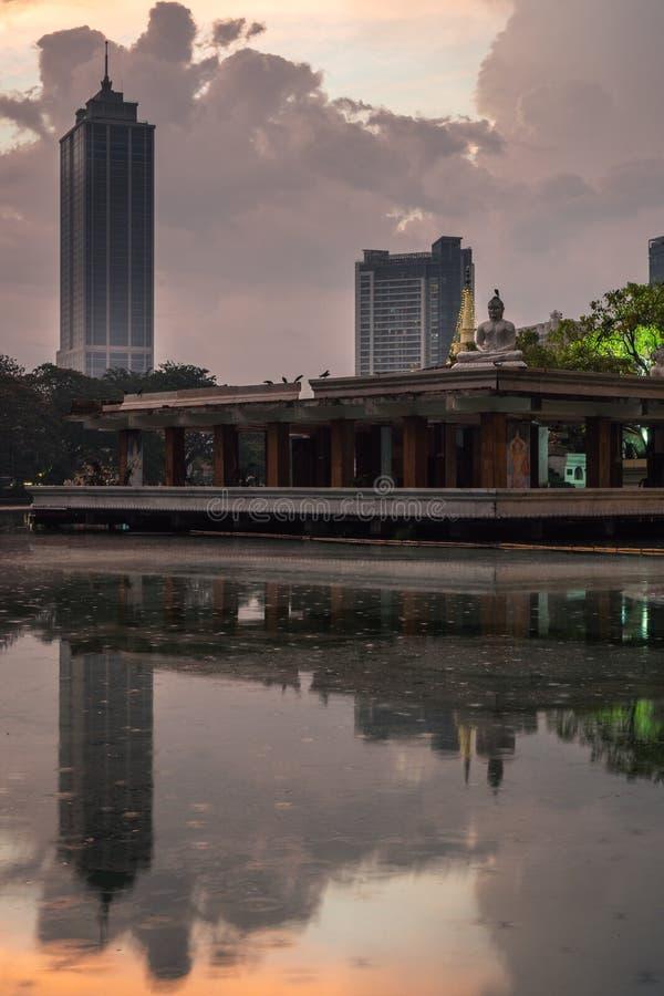 Colombo Sri Lanka al tramonto immagini stock libere da diritti