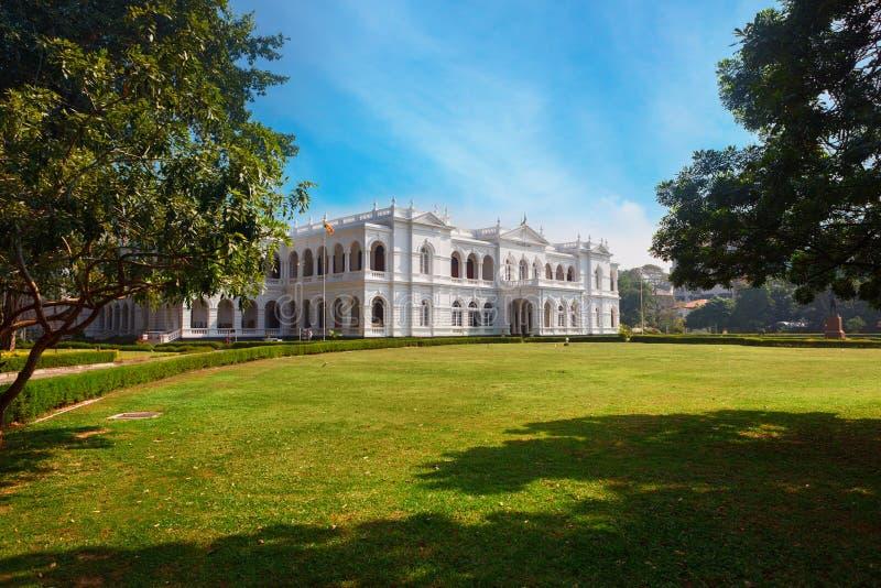 Colombo, Sri Lanka - 11 Februari 2017: Het Nationale Museum van Colombo heeft een rijke inzameling van Aziatische arts. stock fotografie