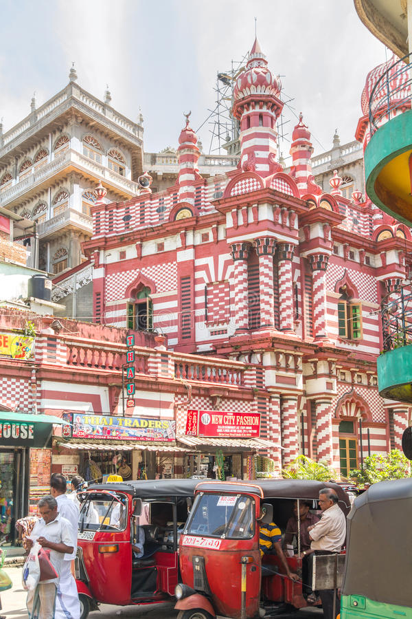 Colombo, SRI LANKA - 1° novembre: mercato di strada affollata nello Sri Lanka immagini stock libere da diritti