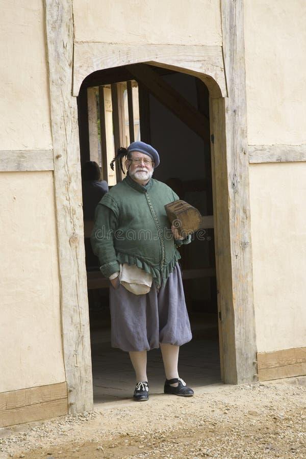 Colon anglais au fort de James photographie stock