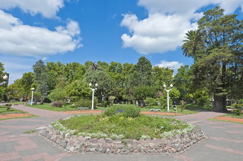 Colon square in Lujan near Buenos Aires, Argentina. Colon square, one of the biggest parks at Lujan near Buenos Aires, Argentina stock image