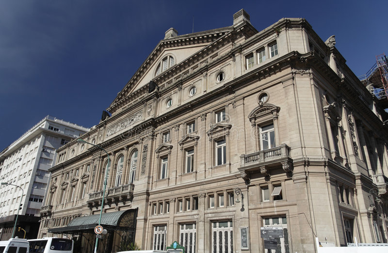 Colon Theater Buenos Aires. The facade of the world class Colon Theatre in Buenos Aires, Argentina stock image